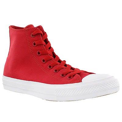 Converse Men's CHUCK II VIZ FLOW red bud hi tops