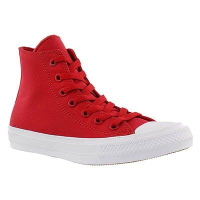 Converse Women's CHUCK II VIZ FLOW red hi tops