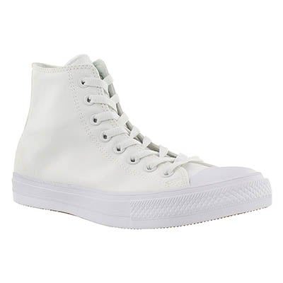 Converse Men's CHUCK II VIZ FLOW white hi tops