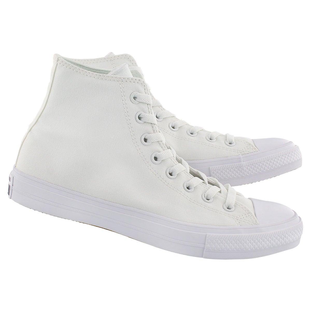 Mns Chuck II Viz Flow white hi top