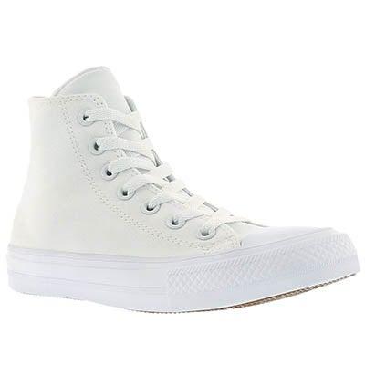 Converse Women's CHUCK II VIZ FLOW white hi tops