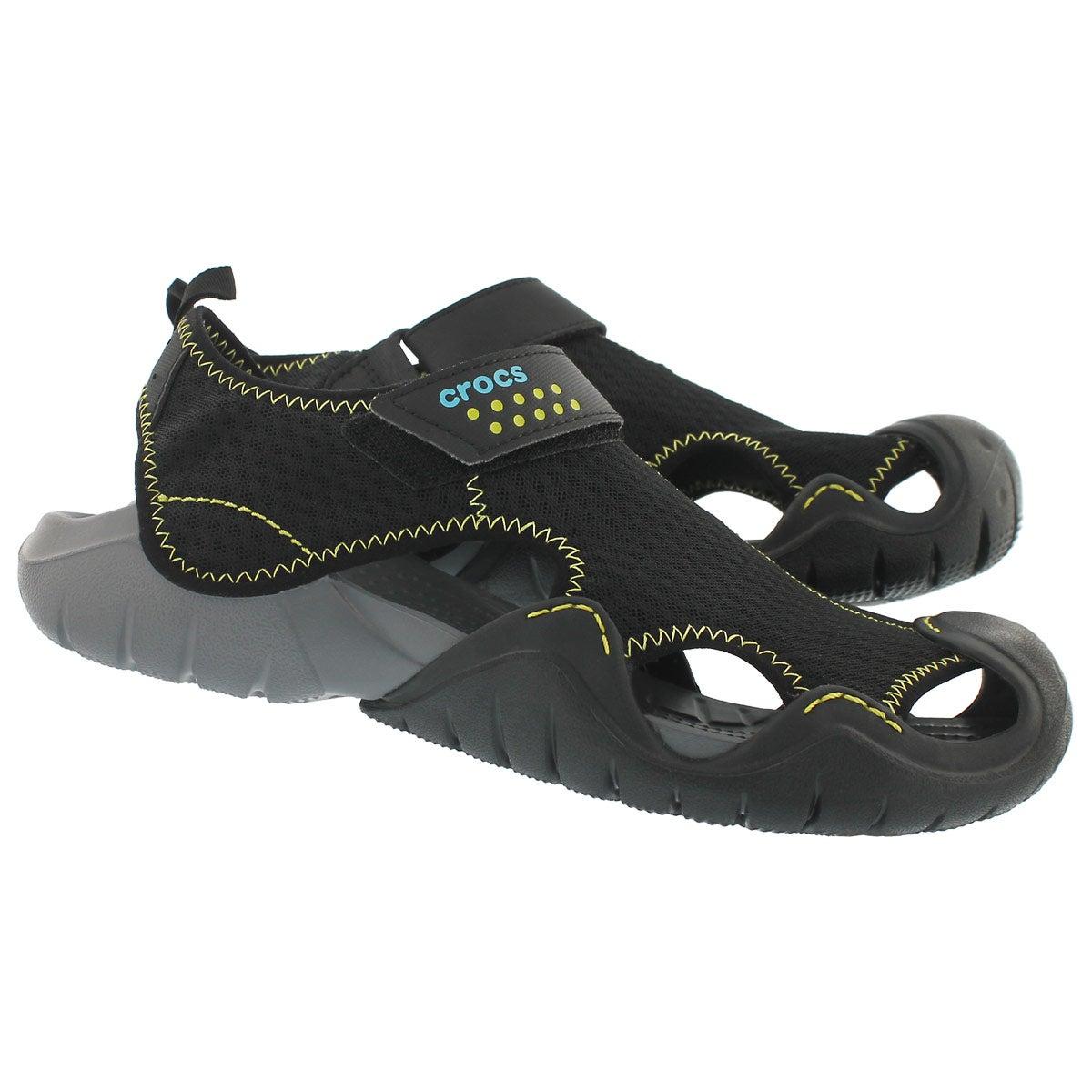 Mns Swiftwater blk/char fisherman sandal