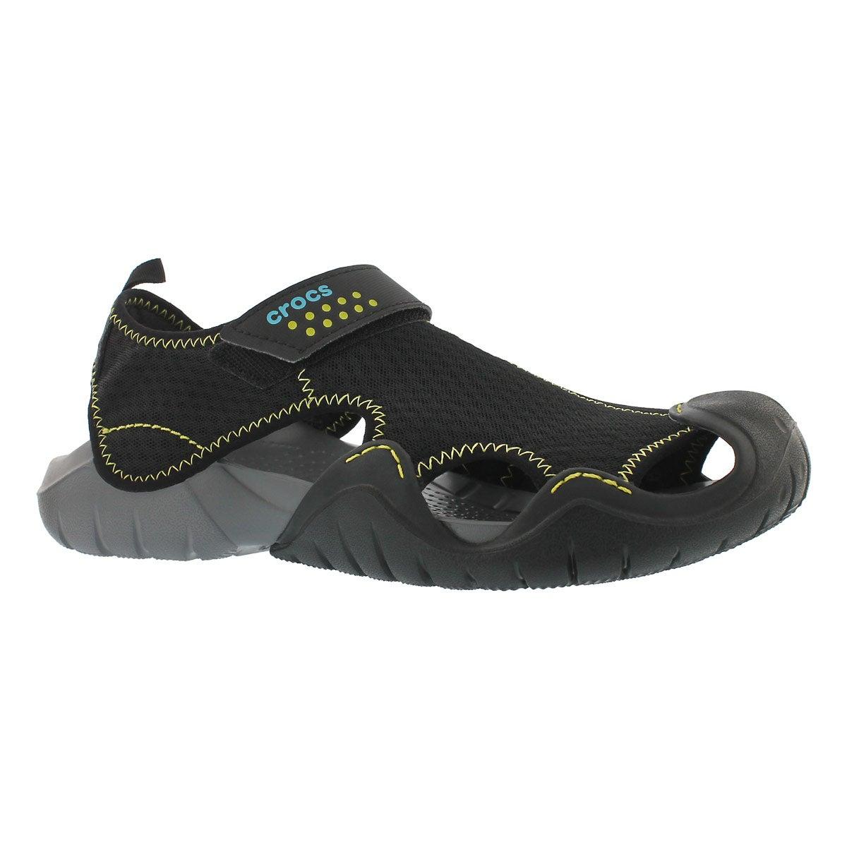 Men's SWIFTWATER blk/charcoal fisherman sandals