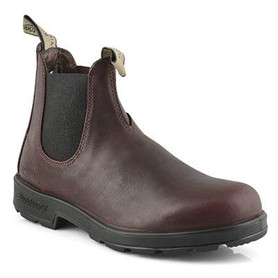 Unisex Lthr Lined redwood pull on boot
