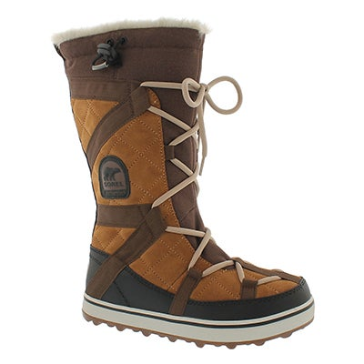Sorel Women's GLACY EXPLORER tobacco winter boots