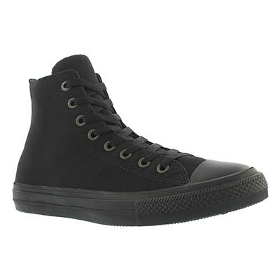 Converse Men's CHUCK II VIZ FLOW black mono hi tops