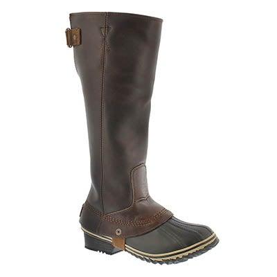 Lds Slimpack RidingTall nutmg wtrpf boot