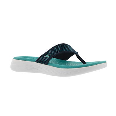 Lds On-The-Go 600 nvy/trq flip flop