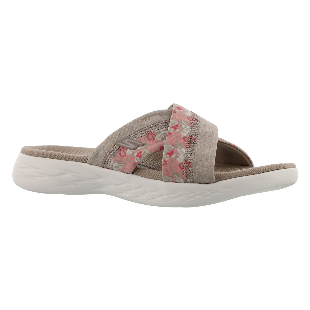 Women's ON-THE-GO 600 MONARCH taupe slide sandals