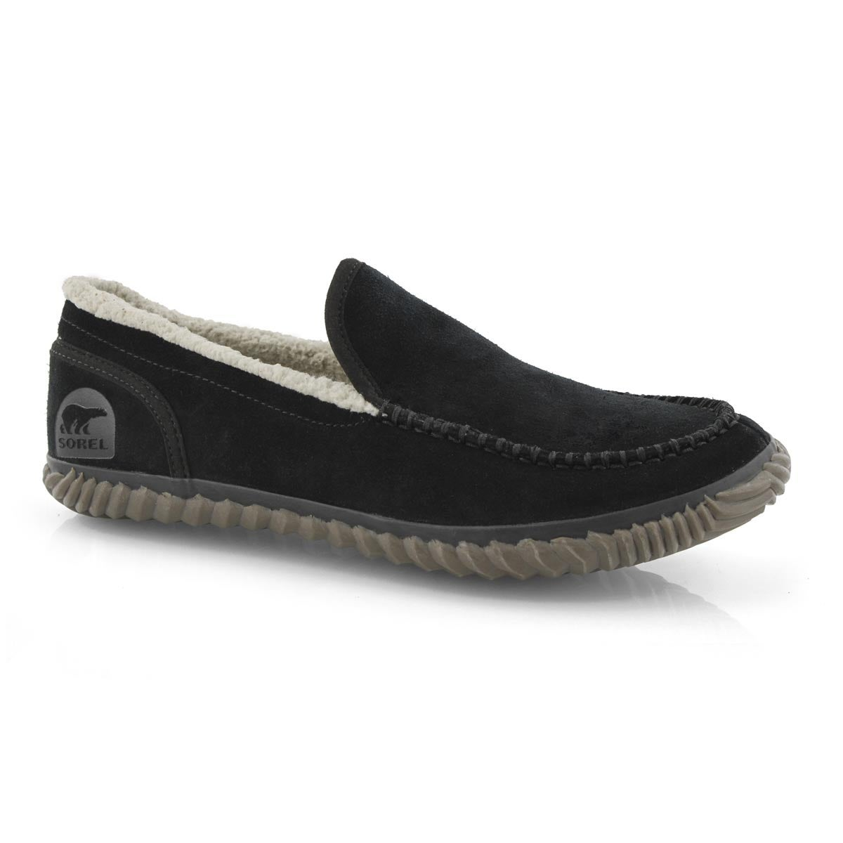 Mns Dude Moc black slipper