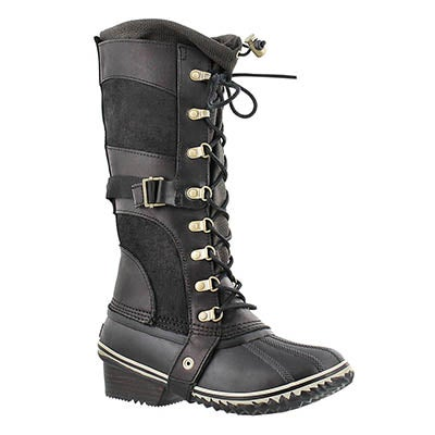 Sorel Women's CONQUEST CARLY black winter boots