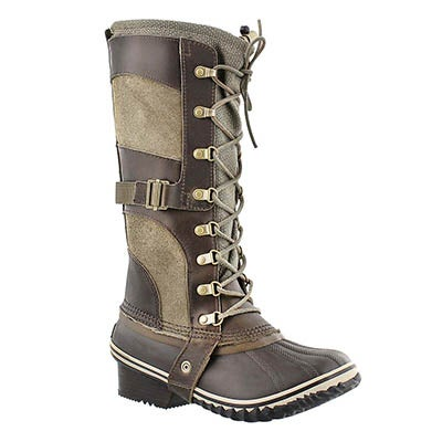Sorel Women's CONQUEST CARLY camo brown winter boots