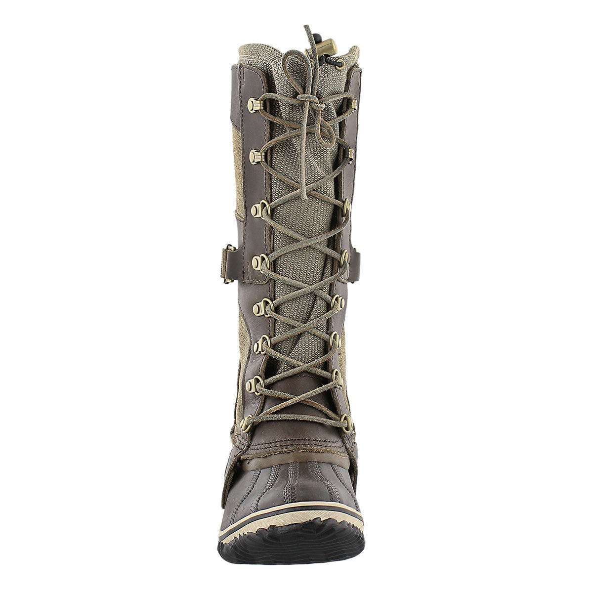 Lds ConquestCarly camo brn knee hi boot