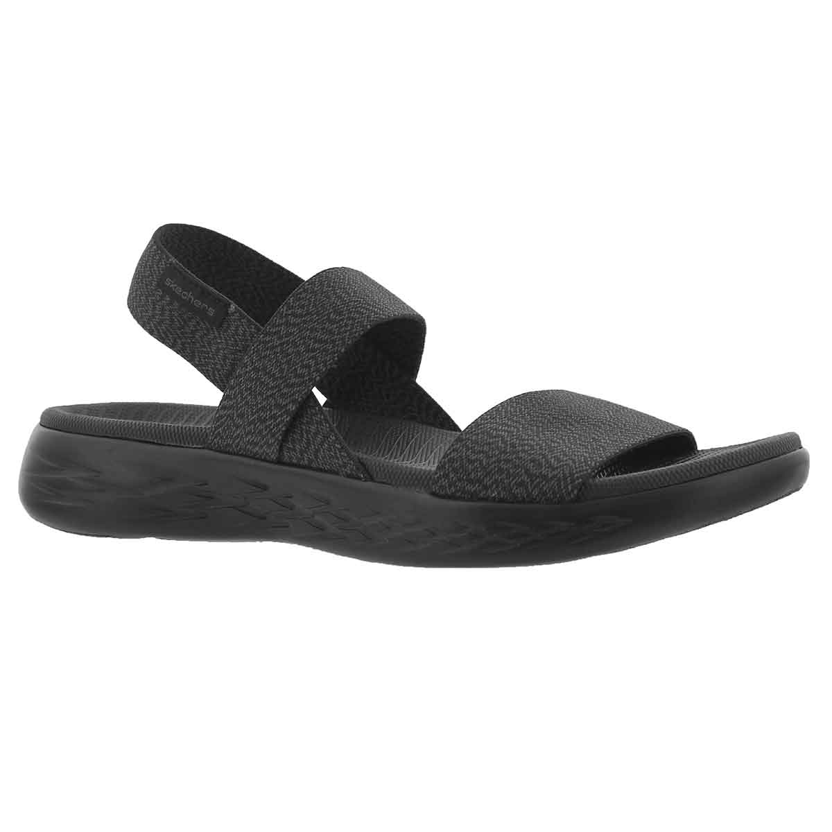 Women's ON THE GO 600 IDEAL black sport sandals