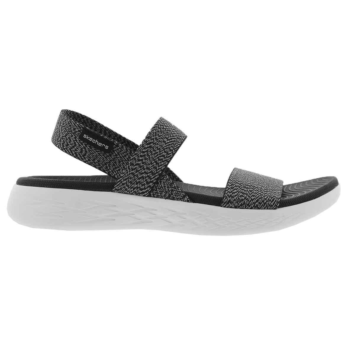 Lds OnTheGo 600 Ideal bk/wt sport sandal