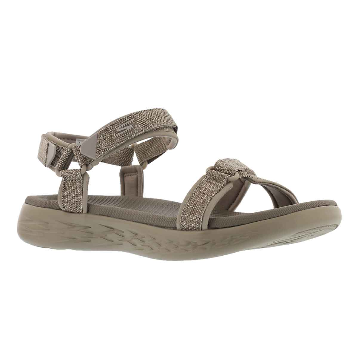 Women's ON THE GO 600 taupe sport sandals - Wide
