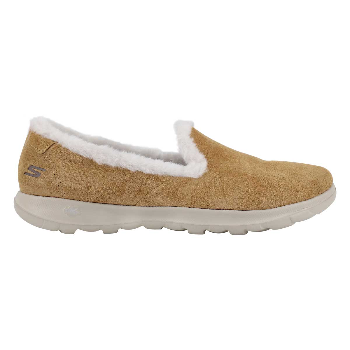 Lds GOwalk Lite ches slip on lined shoe