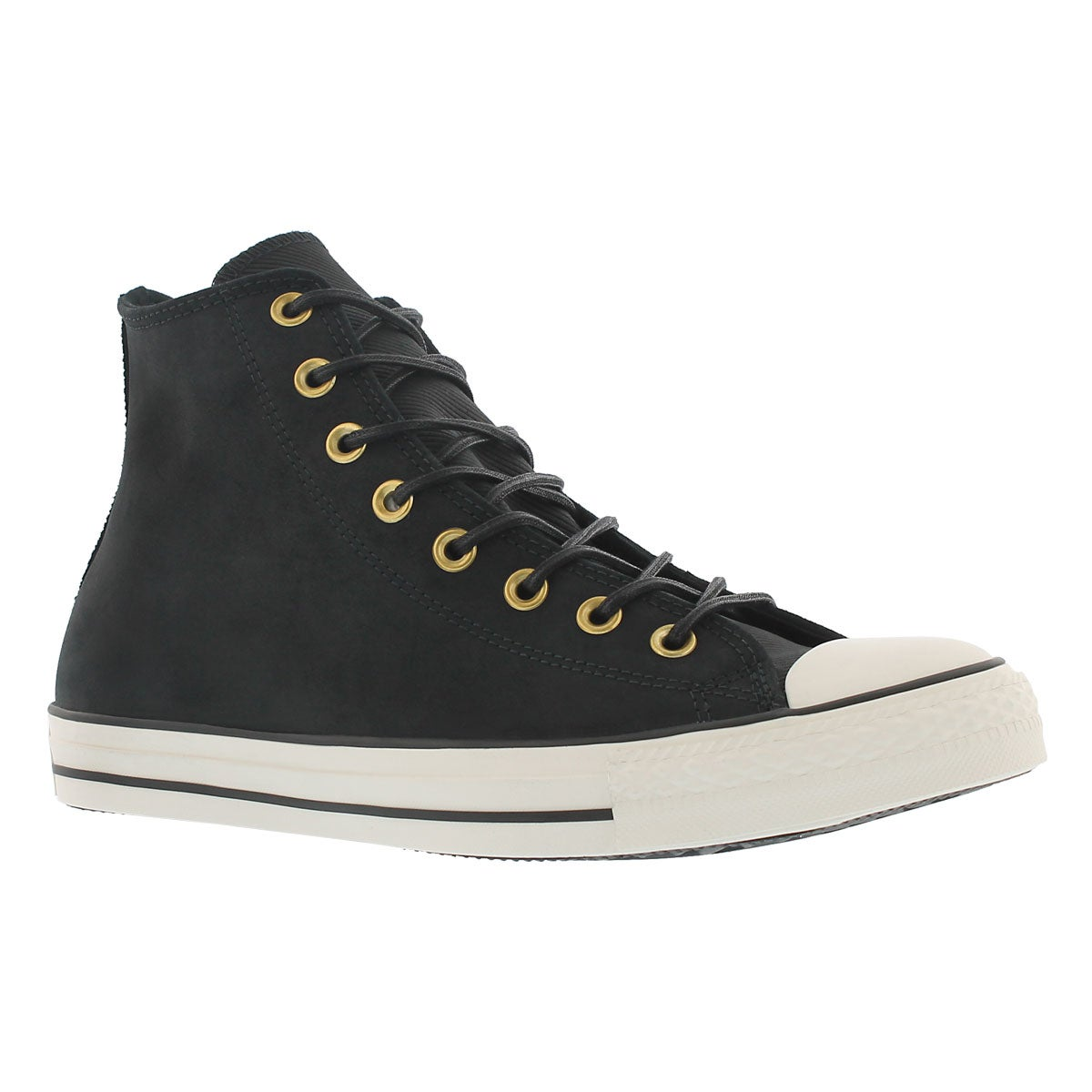 Mns CT A/S Leather Corduroy  blk hi top
