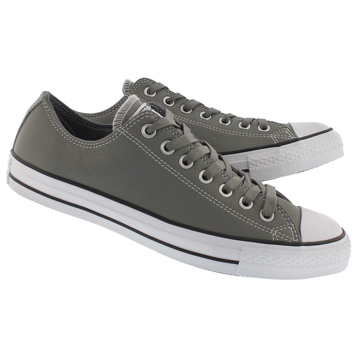 Mns CT All Star Leather Ox grey sneaker