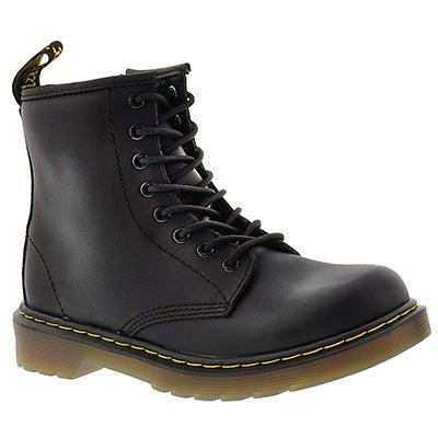 Dr Martens Kids' DELANEY black 8-Eye boots