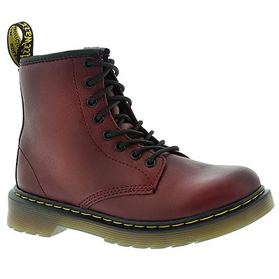 Dr Martens Kids' DELANEY cherry red 8-Eye boots