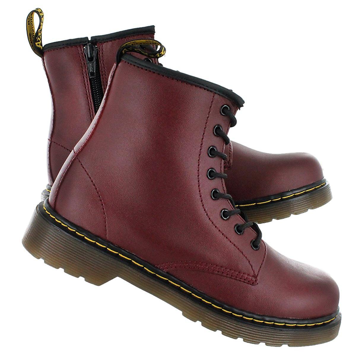 Chld Delaney cherry red 8eye boot