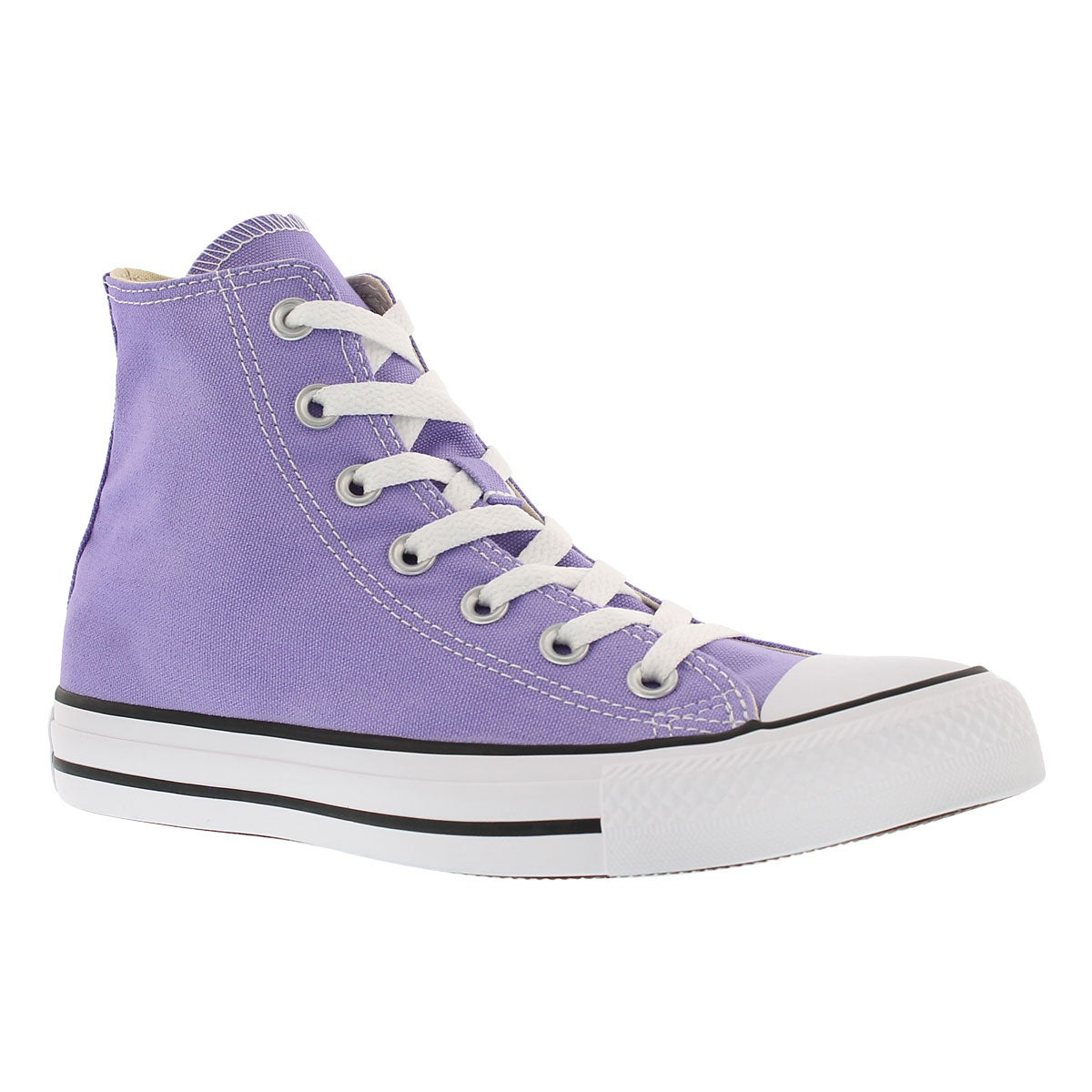 Converse womens ct all star seasonal frozen lilac hi tops converse chuck taylor all star seasonal canvas geenschuldenfo Images