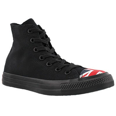 Converse Women's CT ALL STAR UK FLAG black hi tops