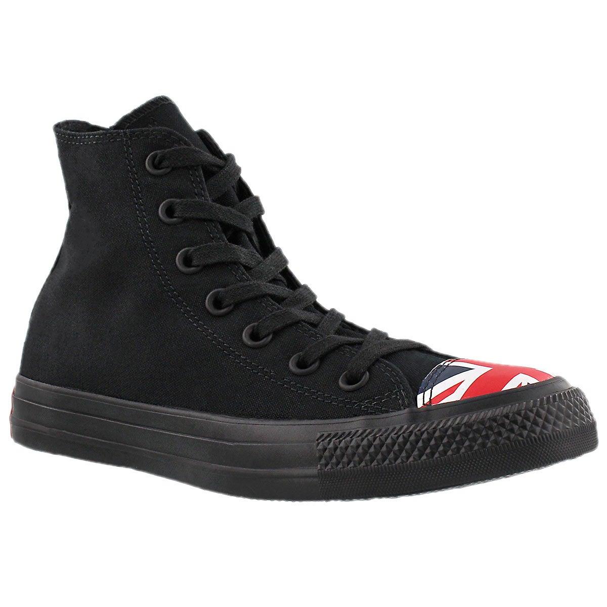 Lds CT All Star UK Flag black hi top