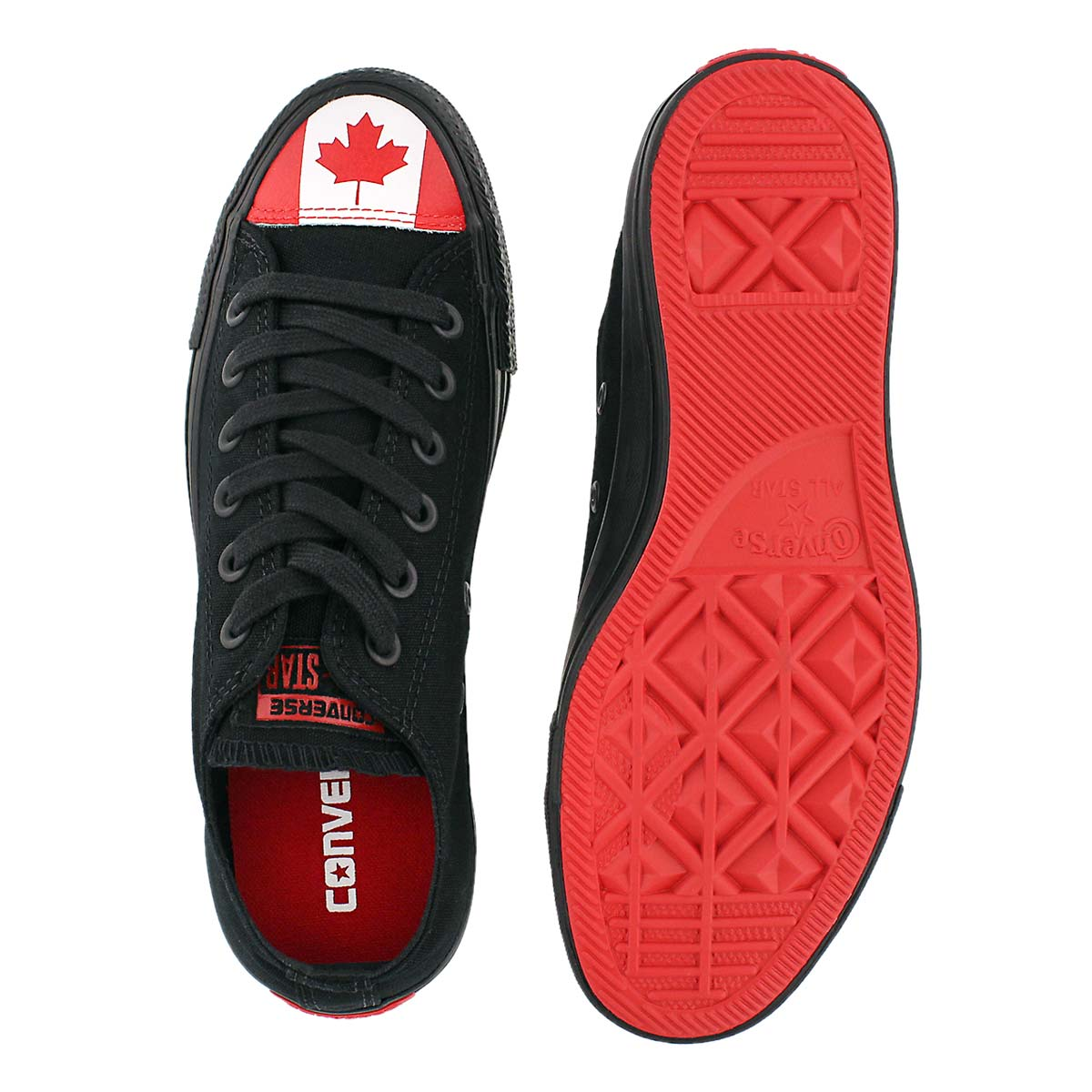 Lds CT All Star Canada Flag blk sneaker