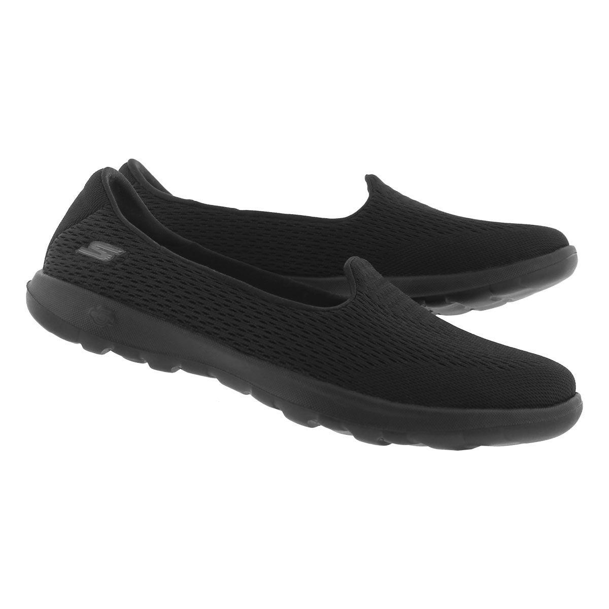 Lds GO Walk Lite black slip on shoe