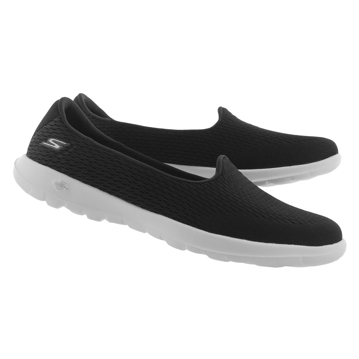 Lds GO Walk Lite blk/wht slip on shoe