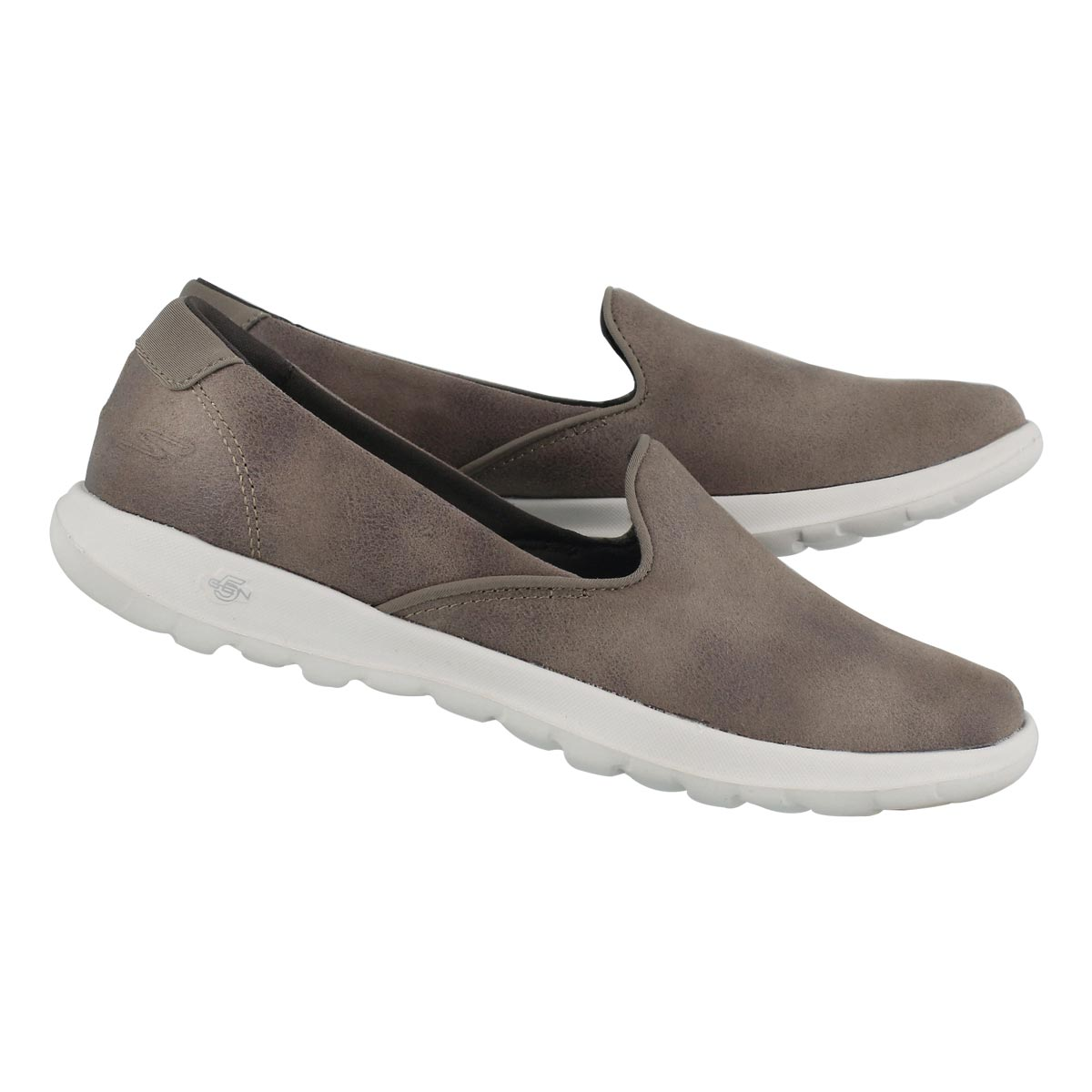 Lds GO Walk Lite taupe slip on shoe