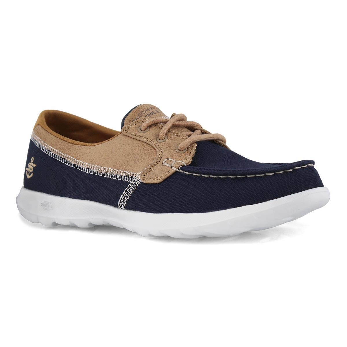 Lds GOwalk Lite Coral navy boat shoe