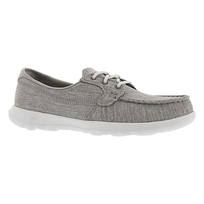 Lds GO Walk Lite grey boat shoe
