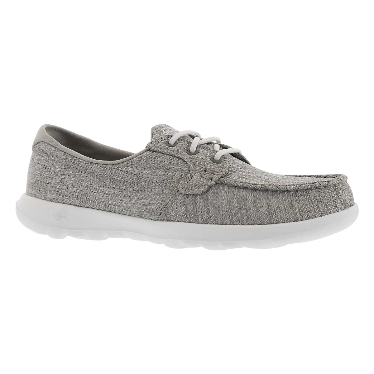 Women's GO WALK LITE grey boat shoes