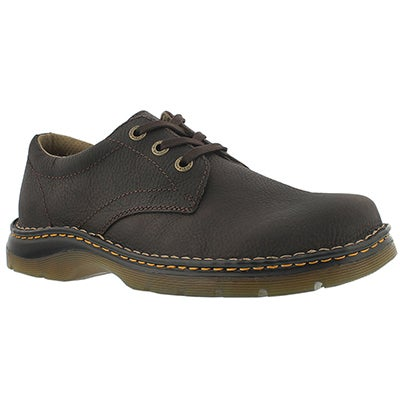 Dr Martens Men's ORDELL dark brown 3-Eye oxfords