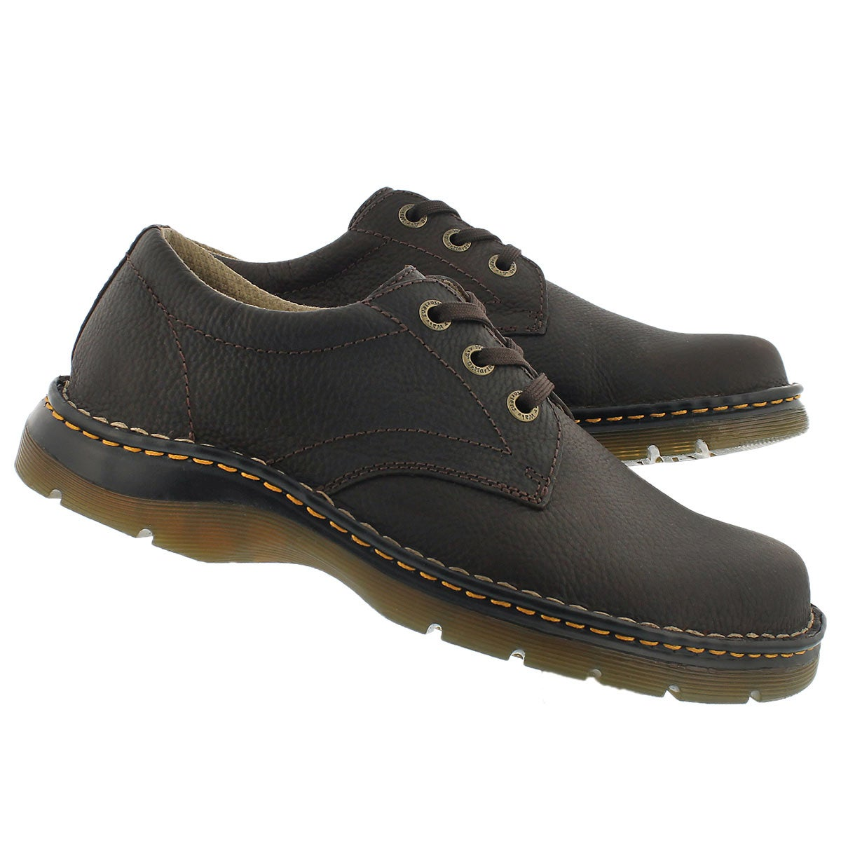 Mns Ordell dark brown 3 eye oxford.