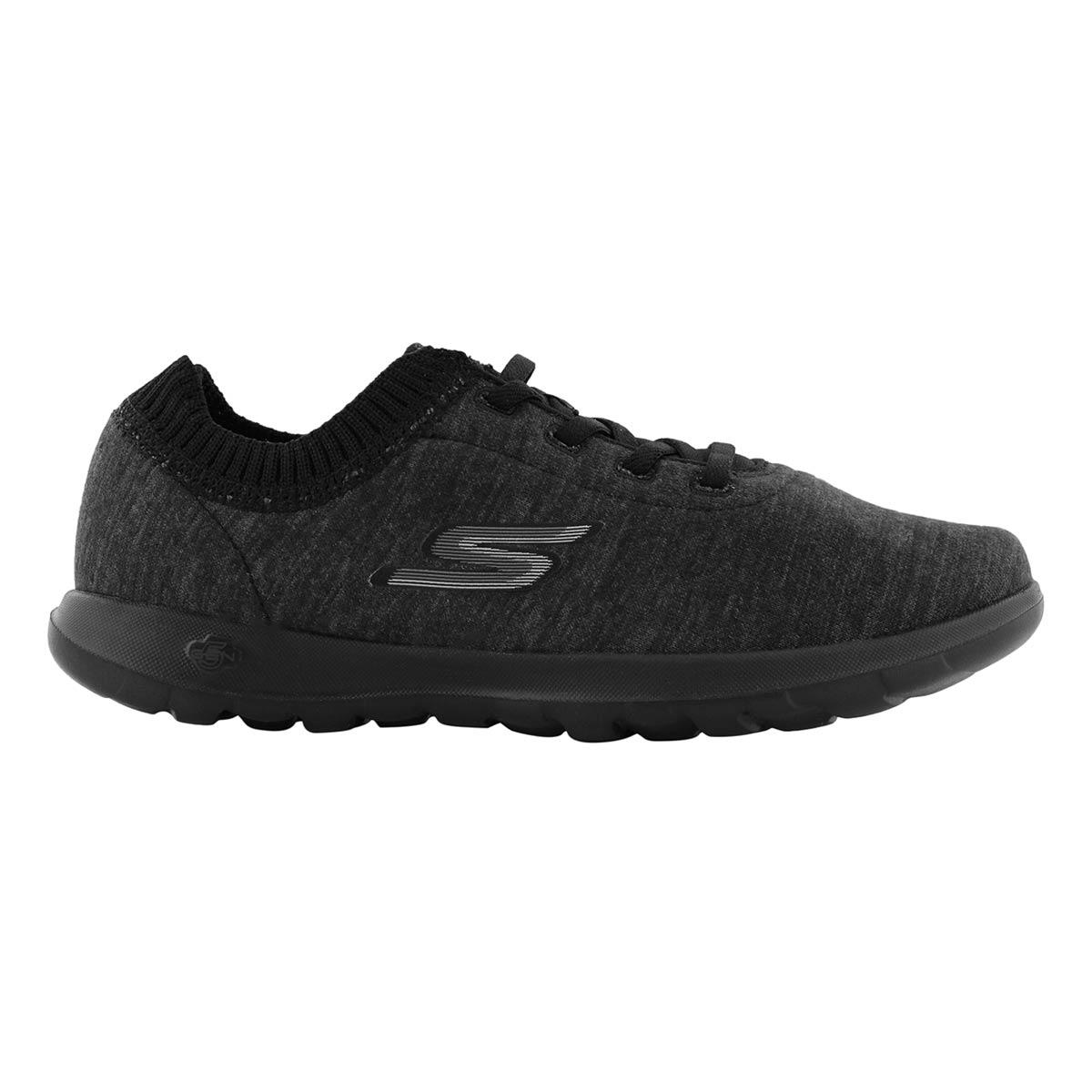 Lds GOWalk Lite blk/gry sneaker
