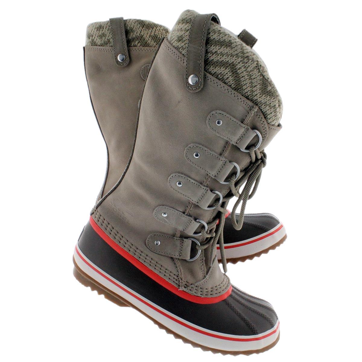 Sorel women s joan of arctic knit fossil winter boots 1553291 160