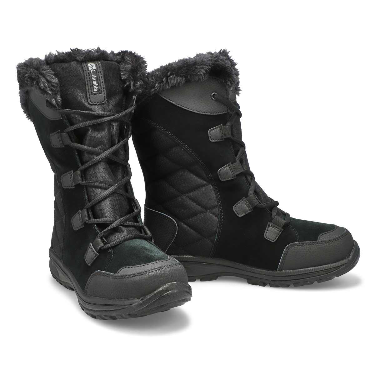 Lds Ice Maiden II black lace up wtr boot