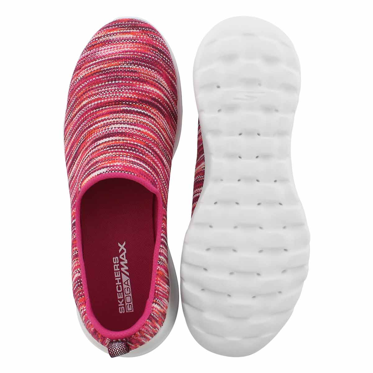 Lds GO Walk Joy pink/multi slip on shoe