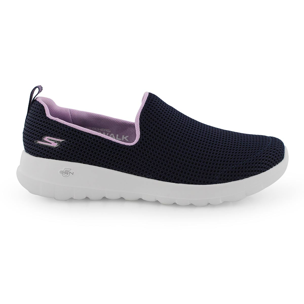 Lds GO Walk Joy nvy/lvndr slip on shoe