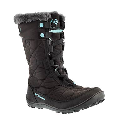 Grls Minx Mid II black winter boot