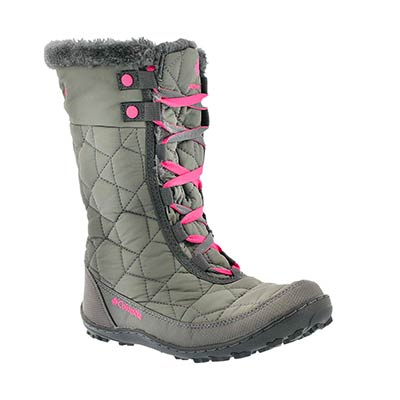 Columbia Girls' MINX MID II grey winter boots