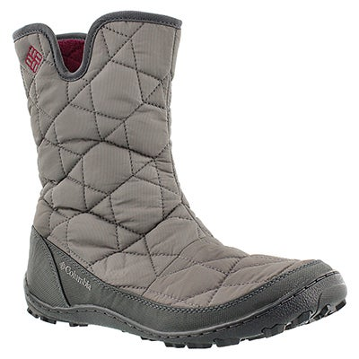 Columbia Women's MINX SLIP II grey pull on wnter boots