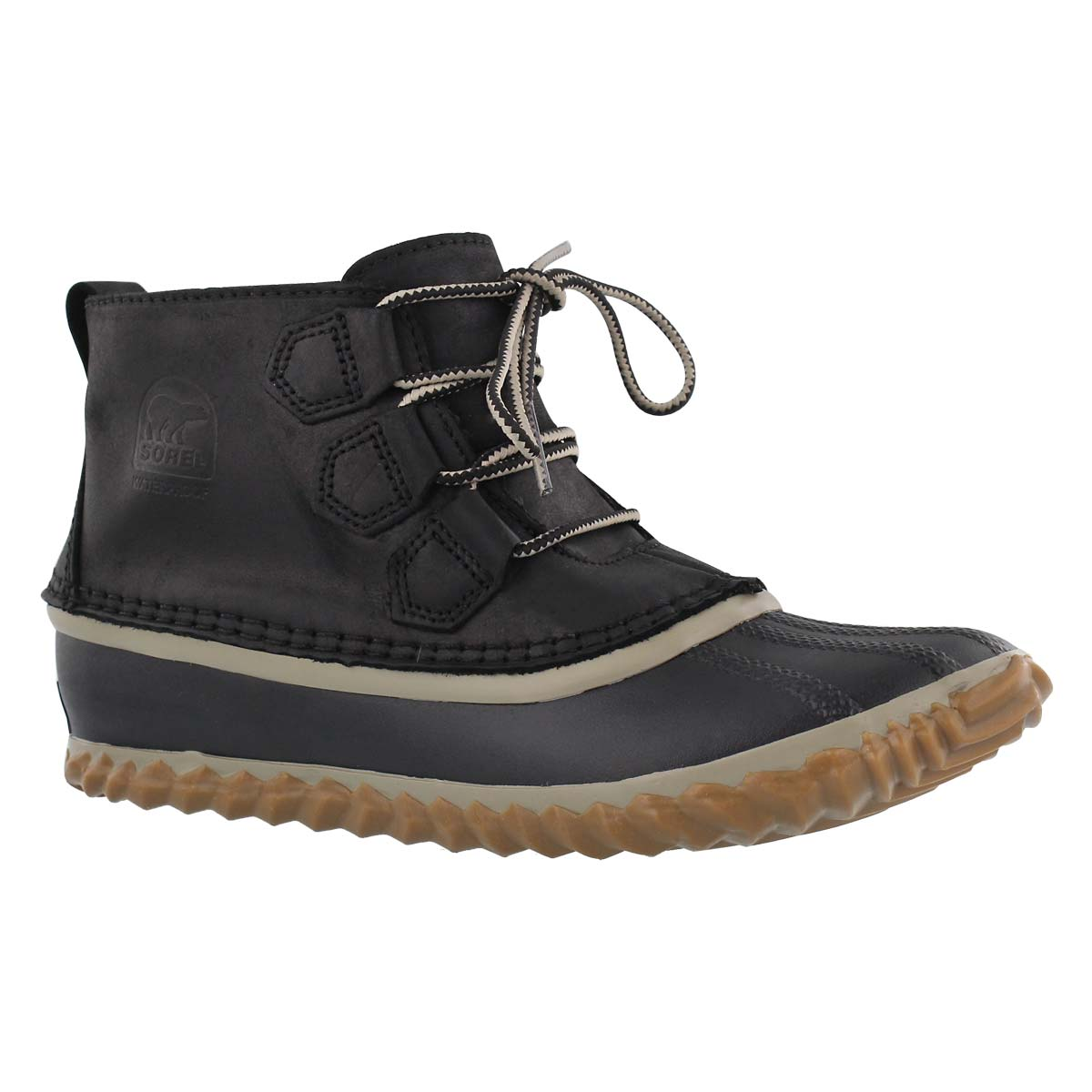 Women's OUT'N ABOUT LEATHER black/grey booties