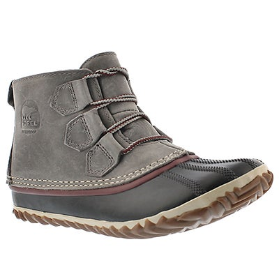 Sorel Women's OUT' N ABOUT leather quarry casual booties