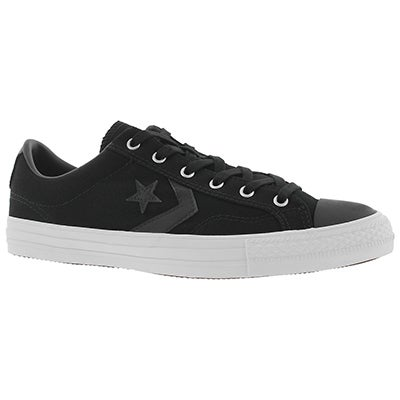Mn's Star Player black Canvas sneaker