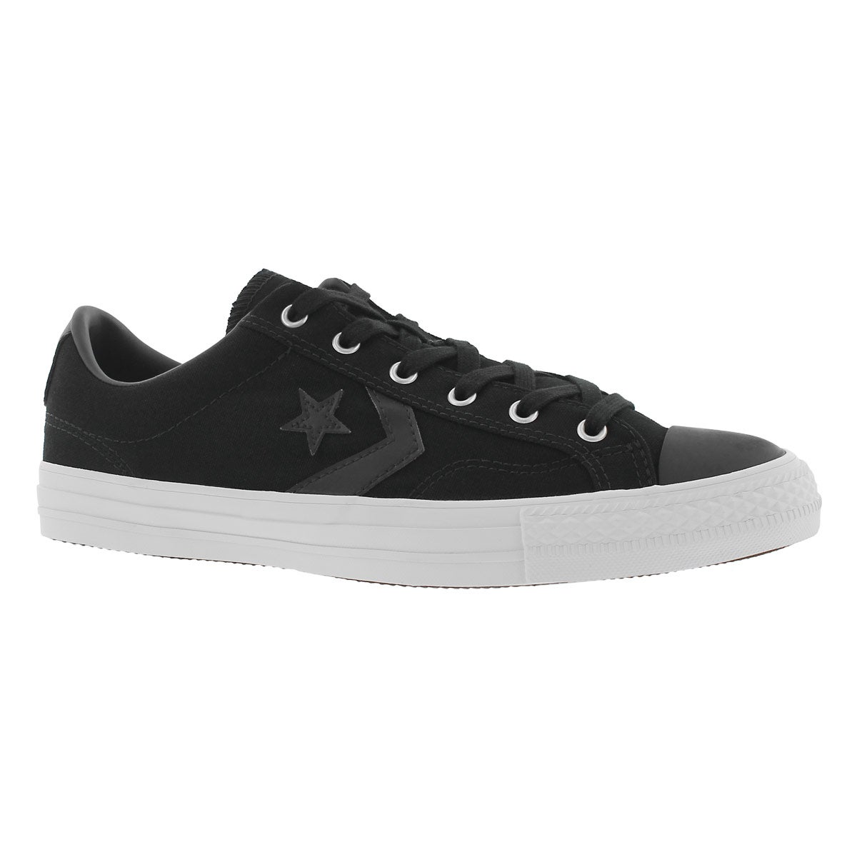 Men's STAR PLAYER black canvas sneakers